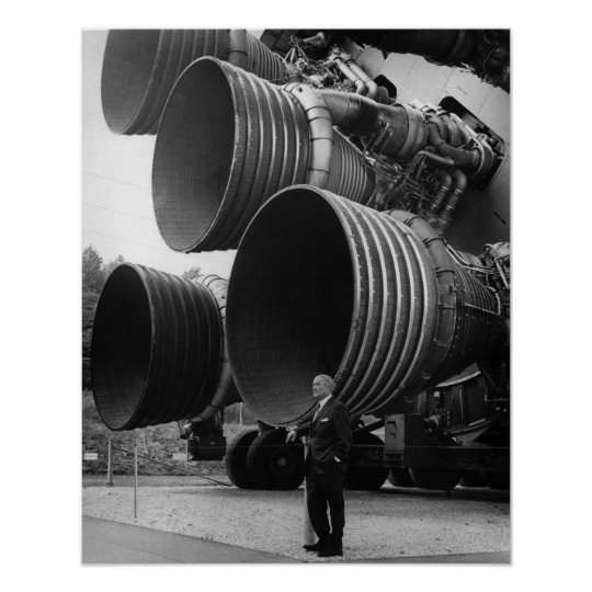 Werner von Bran and the Saturn V rocket