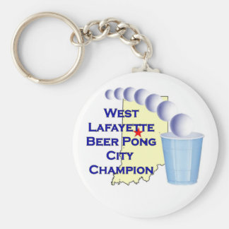 Wes Lafayette Beer Pong Champion Keychain