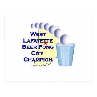 Wes Lafayette Beer Pong Champion Post Cards
