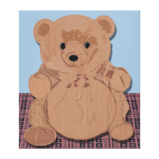 Wes T Bear Wrapped Canvas Gallery Wrapped Canvas