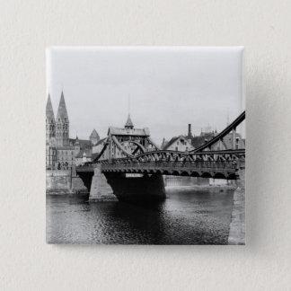 Weser Bridge, Bremen, c.1910 15 Cm Square Badge