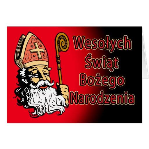 Wesolych Swiat Bozego Narodzenia Christmas Card