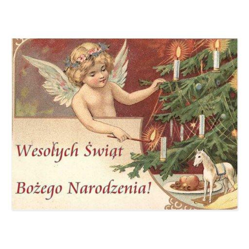 Wesolych Swiat Bozego Narodzenia Merry Christmas Post Cards