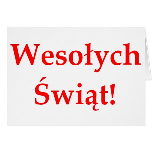 Wesolych Swiat Greeting Cards