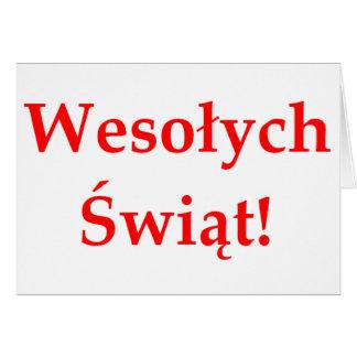 Wesolych Swiat Greeting Card