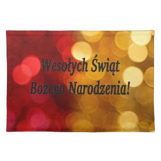 Wesołych Świąt ...! Merry Christmas in Polish bf Cloth Place Mat