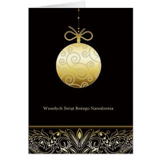 Wesołych Świąt, Merry christmas in Polish Card