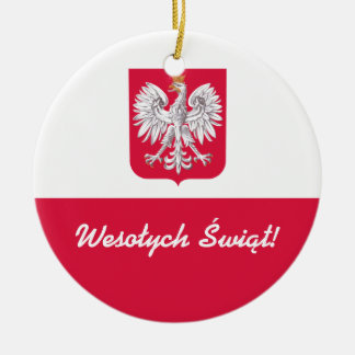 Wesołych Świąt Merry Christmas in Polish Christmas Ornament