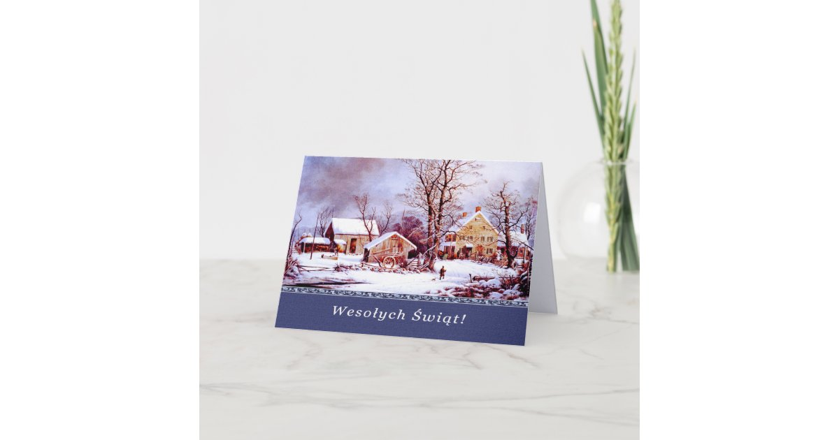 Wesolych Swiat. Polish Christmas Cards | Zazzle.co.uk