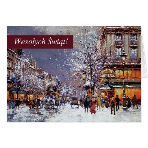 Wesolych Swiat. Polish Christmas Greeting Cards