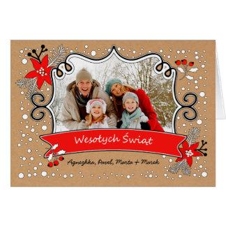 Wesołych Świąt. Polish Christmas Photo Card