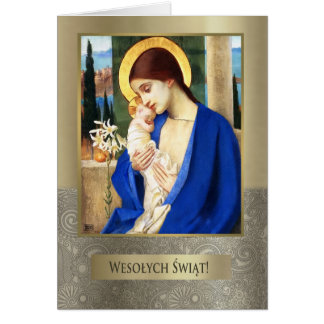 Wesolych Swiat. Polish Fine Art Christmas Card