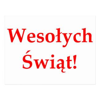 Wesolych Swiat Postcard