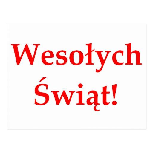 Wesolych Swiat Postcards