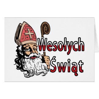 Wesolych Swiat St. Nicholas Greeting Card