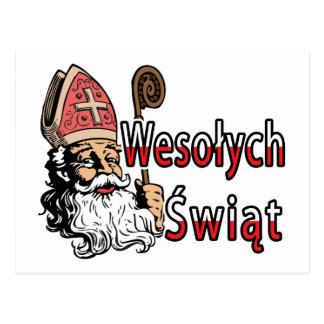 Wesolych Swiat St. Nicholas Postcard