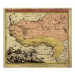 West Africa 1743 Antique Map Poster