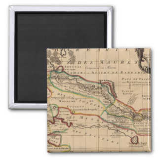 West Africa 3 Square Magnet