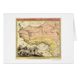 West Africa Map 1743 Card
