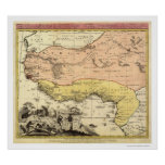 West Africa Map 1743 Poster