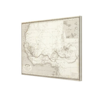 West Africa Map Canvas Print