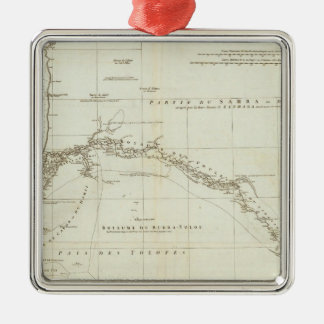 West Africa with Geographical Notes Silver-Colored Square Decoration