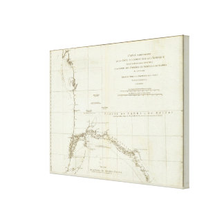 West African Map Canvas Print