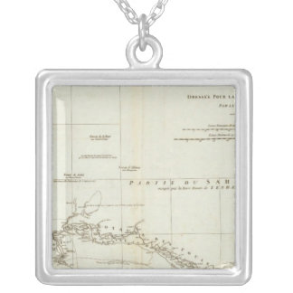 West African Map Silver Plated Necklace