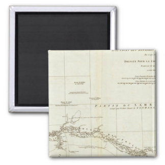 West African Map Square Magnet