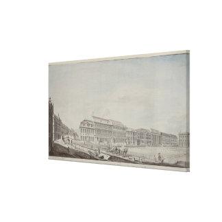 West aspect of Wilhelmsplatz, c.1773 Canvas Print