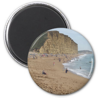 West Bay beach 6 Cm Round Magnet