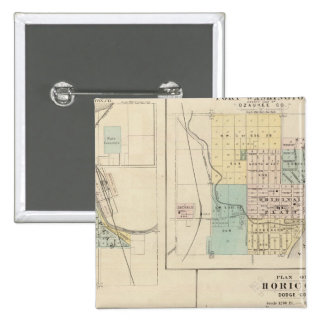 West Bend, Port Washington, Hartford and Horicon 15 Cm Square Badge