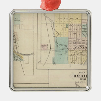 West Bend, Port Washington, Hartford and Horicon Christmas Ornament