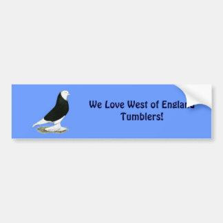 West Black Bald Pigeon Bumper Sticker