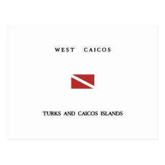 West Caicos Turks and Caicos Islands Scuba Dive Postcards