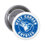 West Canaan Coyotes 6 Cm Round Badge
