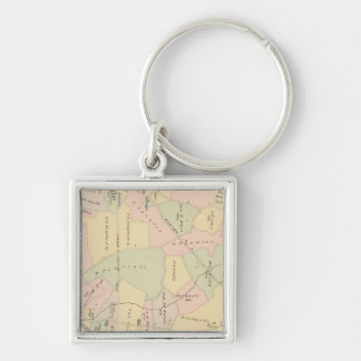 West Chester, New York Silver-Colored Square Key Ring