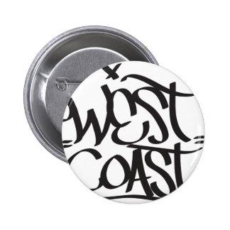 west coast 6 cm round badge