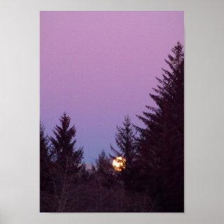 West Coast full moon Poster