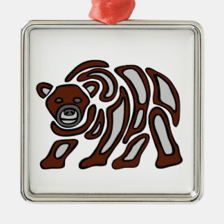 west coast grizzley christmas ornament