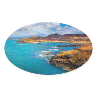 West coast of Scotland Oval Sticker