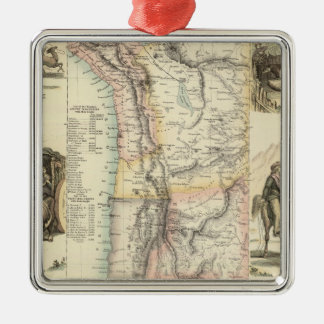 West Coast of South America Christmas Ornament