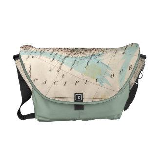west coast US map Messenger Bag