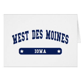 West Des Moines Iowa College Style tee shirts Greeting Card