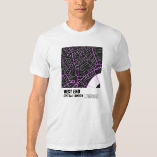 West End, Central London, London T-Shirt in Pink