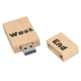 West End Flash Drive USB Wood USB 2.0 Flash Drive