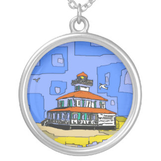 West End Lighthouse Round Pendant Necklace