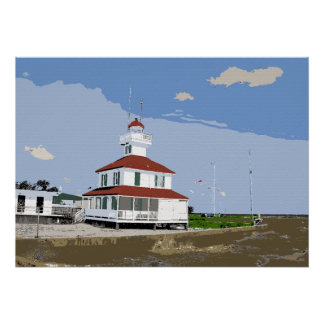 West End Lighthouse Watercolor Poster