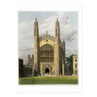 West End of King's College Chapel, Cambridge, from Postcard