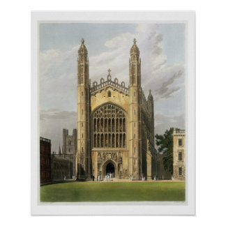 West End of King's College Chapel, Cambridge, from Poster